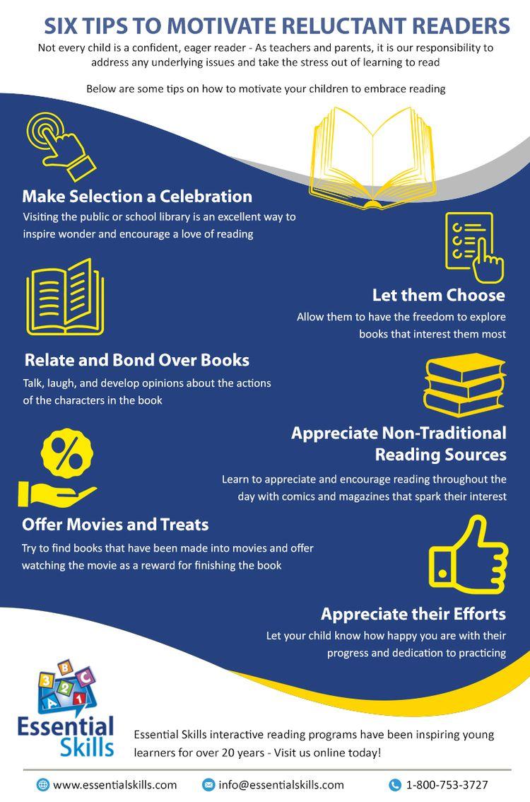 Tips Motivate Reluctant Readers - lucasplatinos | ello