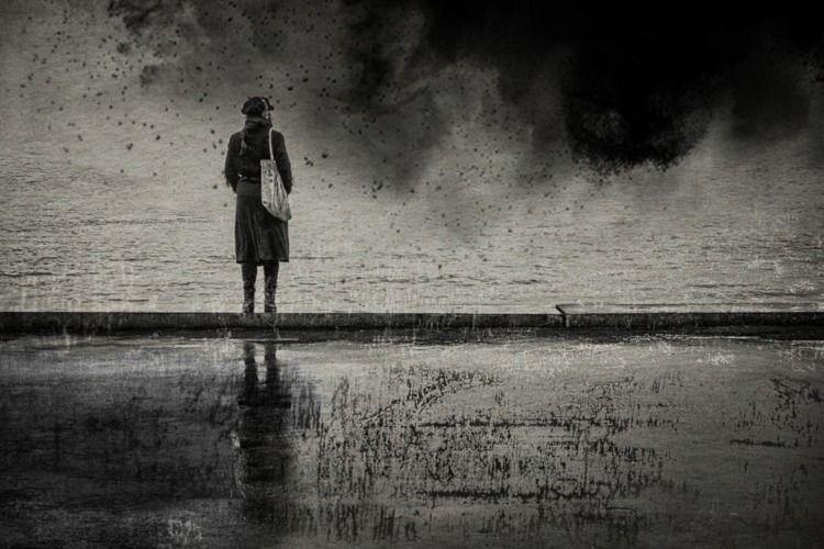 Storm - blackandwhite, fineart, abstractexpressionism - sat1974 | ello