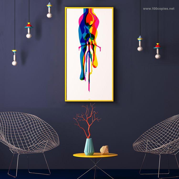 Design 46 - GLIDE GLORY GLOW lo - 100copies_bicycle_art | ello