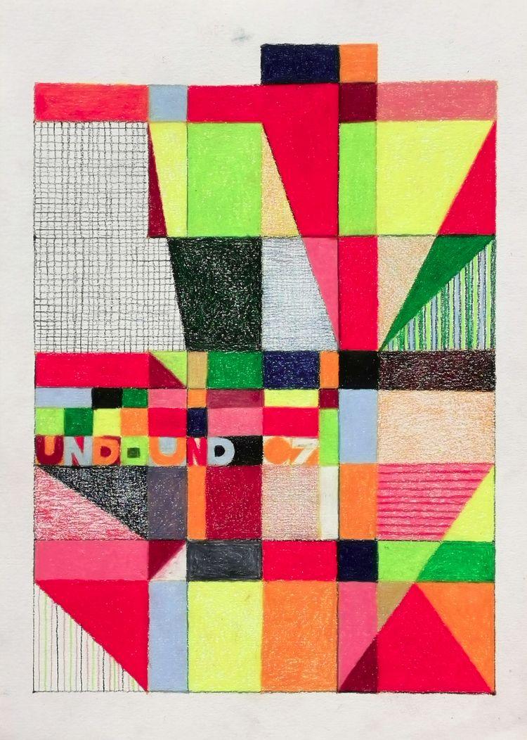 Und - 07, 2020, colored pencil  - miika_nyyssonen   ello