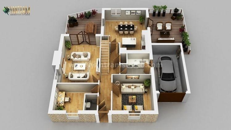 Residential Apartment 3D Floor  - yantramstudio | ello