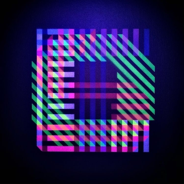 . UV-lit letter word - stencil, type - theyoung | ello