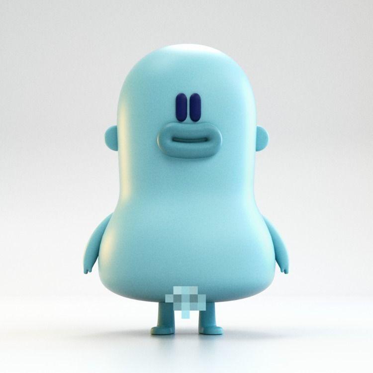 Naked Guy - charactermodeling, characterdesign - zergestus | ello