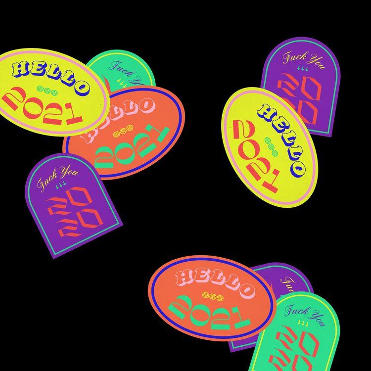 bye (fvck 2020, 2021 - stickers - bzpvn   ello