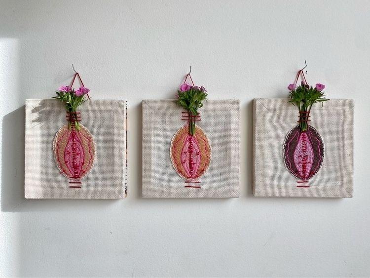 6 Canvas, thread, flowers, Afri - lebleuart   ello