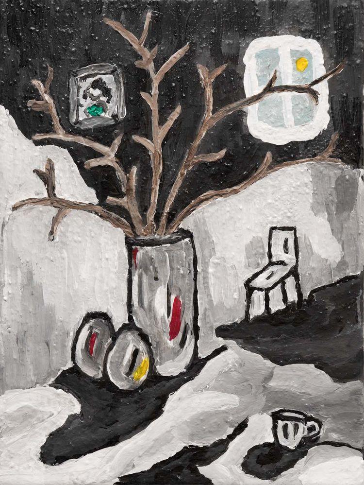 """Dead Branches""-- Acrylic canva - zeren | ello"