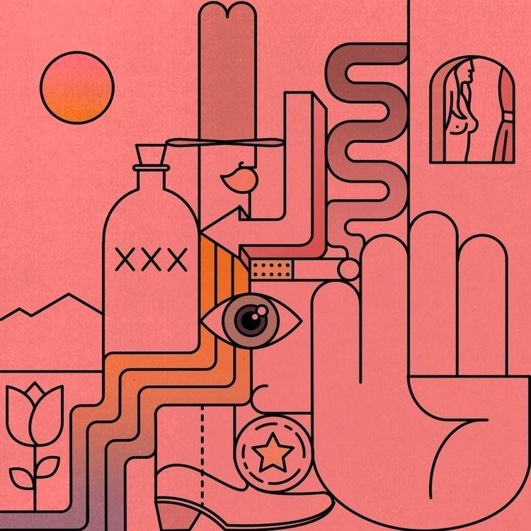 illustration - westernart, elloillustration - andrewhoffman | ello