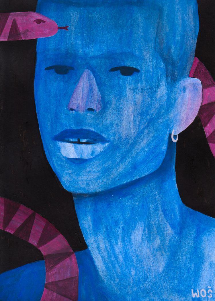 Snake room, acrylic paper 8.2x5 - wojciechwos | ello