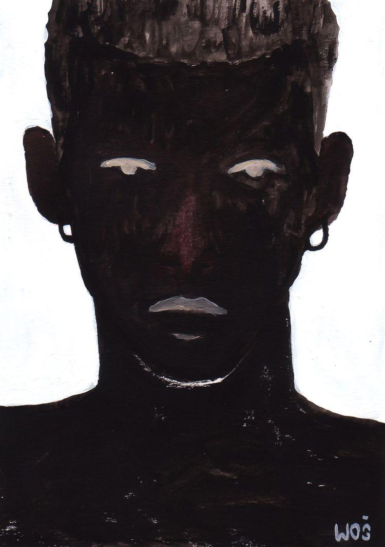 shadows, acrylic paper 4.1x5.8 - wojciechwos | ello
