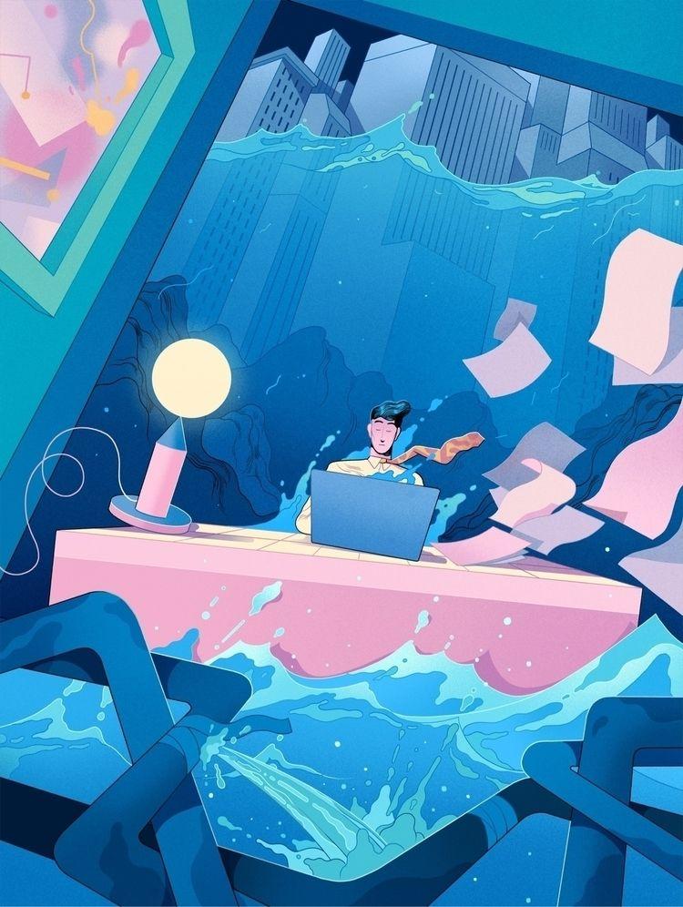 Illustration Entrepreneur Magaz - runefisker   ello