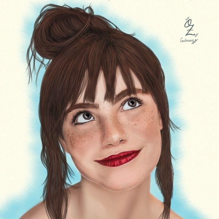 Melissa Fernandes Portrait draw - ozgaleano | ello