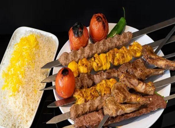 2 skewers Shami, 1 skew chicken - afghancentral | ello