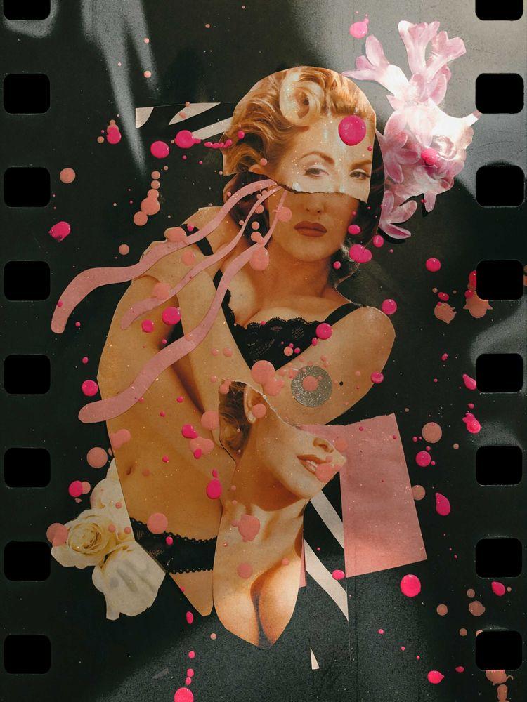 papercollage, acrylicpaint - sickbbbb | ello