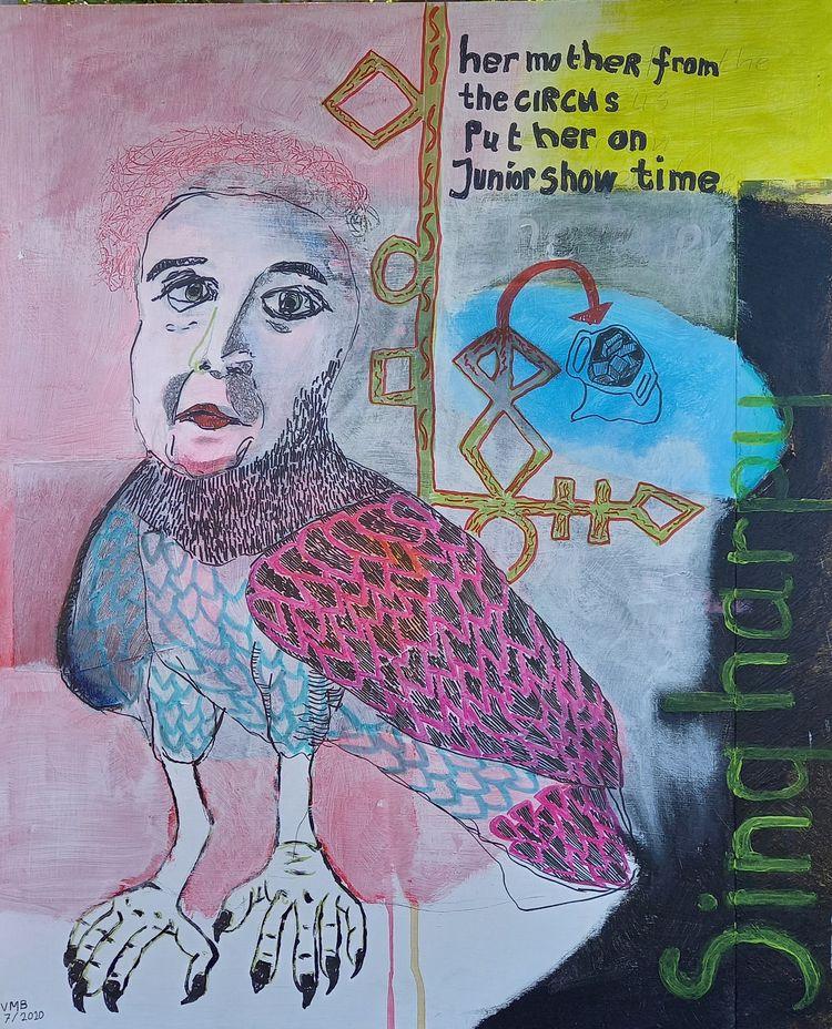 'Sing harpy' Mixed media wood 1 - vincent_bakker | ello