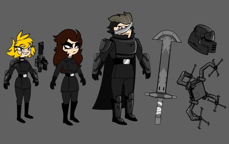 characterdesign, commission, 2Dcharacter - hauntsuku   ello