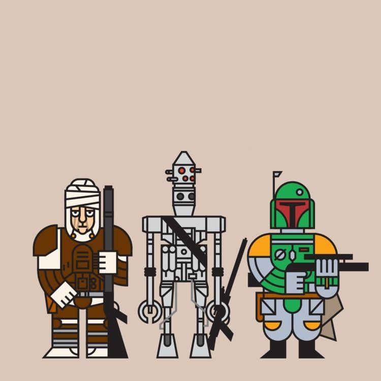Bounty hunters Empire Strikes - StarWars - daruma_studio   ello