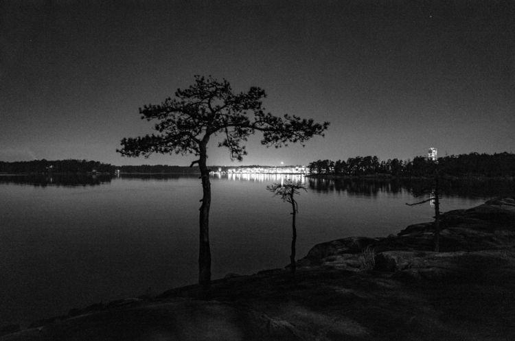 Vuosaari night - photography, blackandwhite - amiett | ello