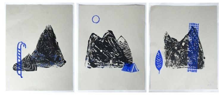 Tryptique Gravure / Engraving T - jaderonatmallie | ello