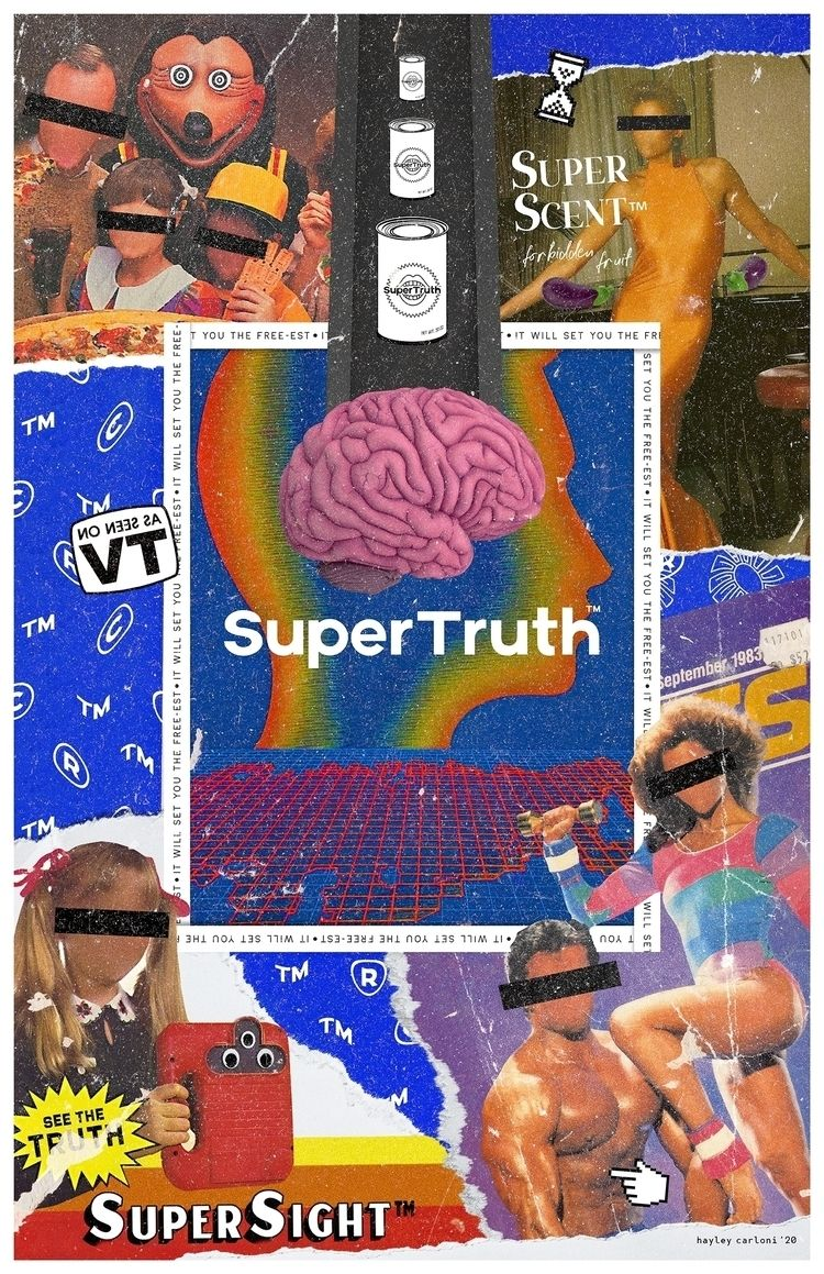 Super Truth - collage, mixedmedia - hayleycarloni | ello