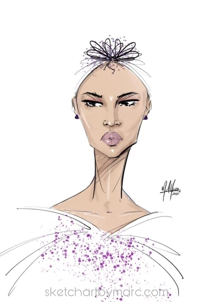 Rose - sketch, croquis, fashionillustraton - sketchartbymarc | ello