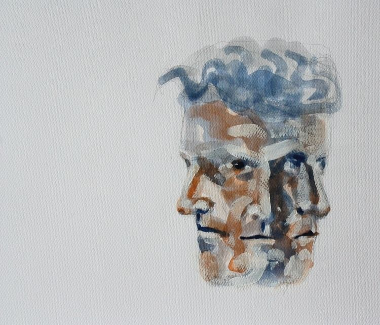 Sketch Wittgenstein Watercolour - burningbuddha   ello