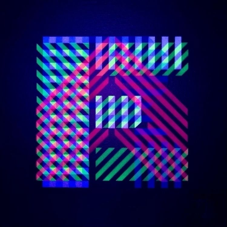 . UV-lit letter word - stencil, pattern - theyoung | ello