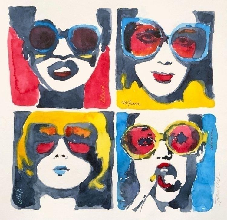 Black, white,man woman. matter - francesaillustration | ello