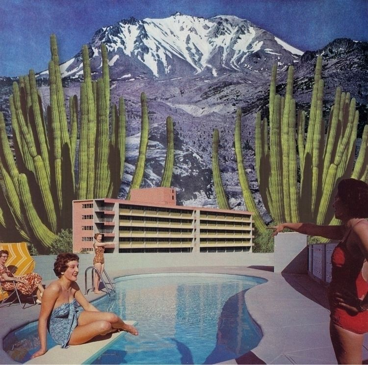 Desert Holiday - Digital Collag - keysgoclick | ello