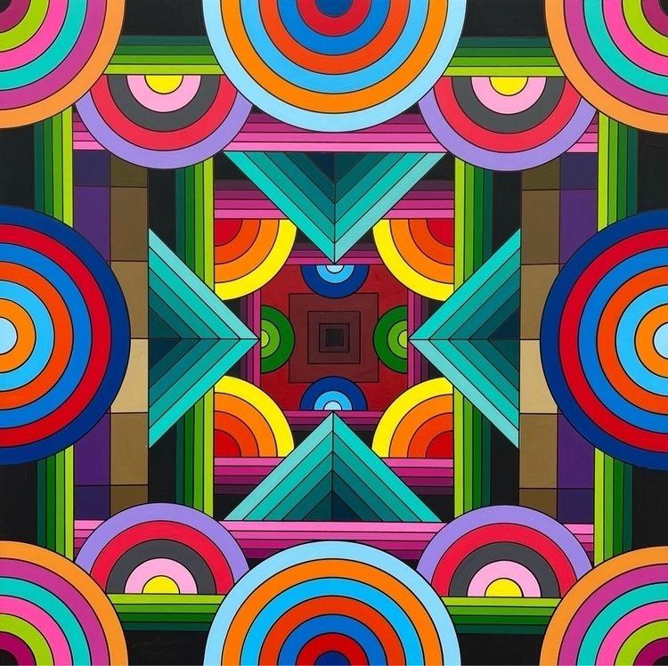 geometric painting - dalek   ello