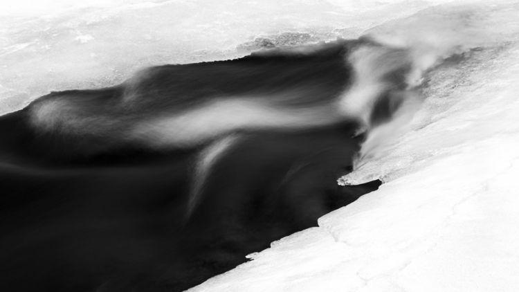 winter ice retreats St. Louis R - toddhphoto | ello
