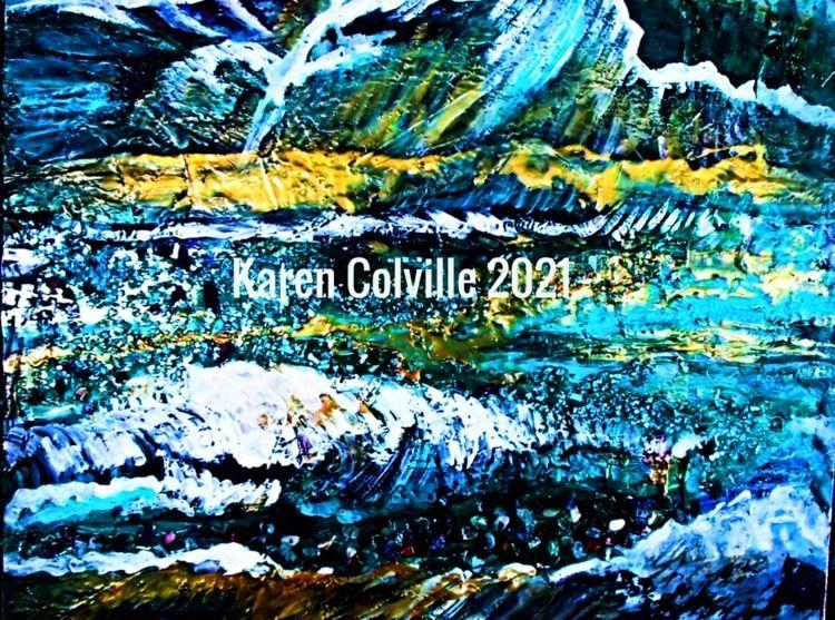 Contemporary Landscape Abstract - karensparkles   ello