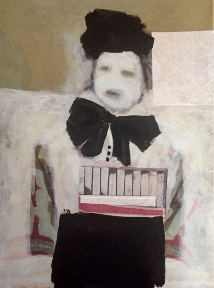 .ghost portrait . paint paper - noellemaline - noellemaline   ello