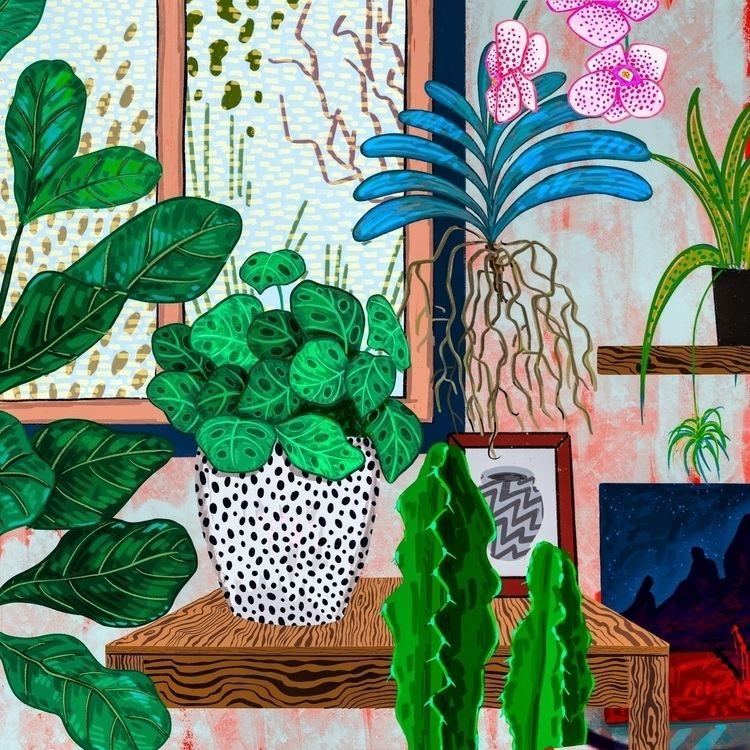 urbanjungles, houseplants, ipadrawing - nandiap | ello