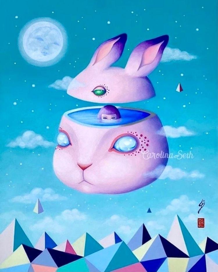 Happy Easter  - surrealart, popsurreal - carolinaseth | ello