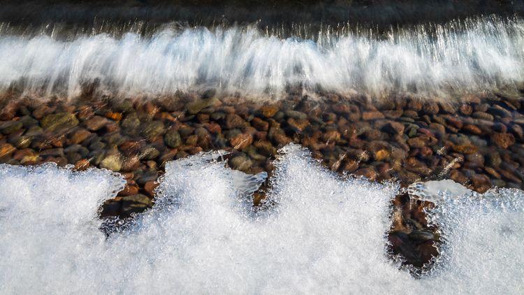 waves Lake Superior push winter - toddhphoto | ello