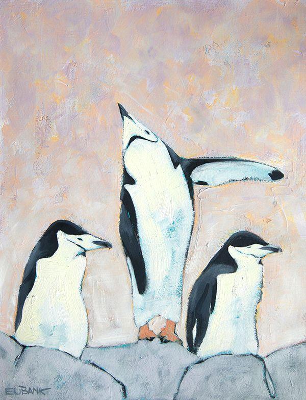 Antarctica Penguins II oil pain - danielleeubank   ello