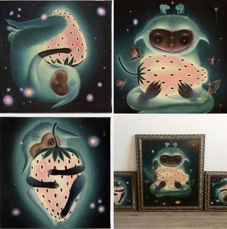 Polaris (triptych) Oil linen 1  - peca-art | ello