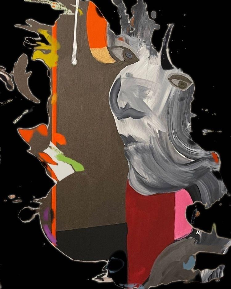 Purpose - acrylic paint canvas - sameldin   ello