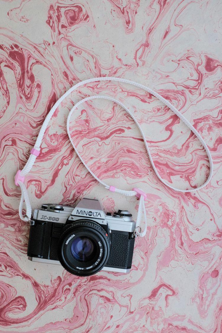 White - Pink Camera Strap - StrapAndGo - strapandgo | ello