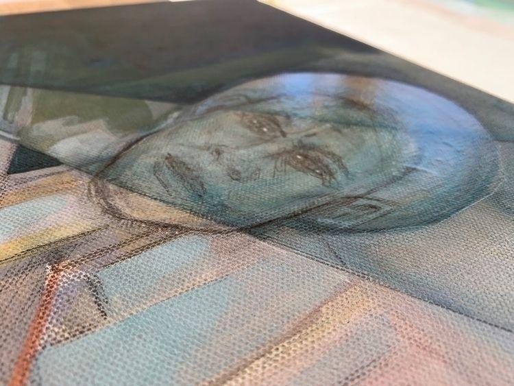 paintingprocess, portrait, selfportrait - joeyderuy | ello