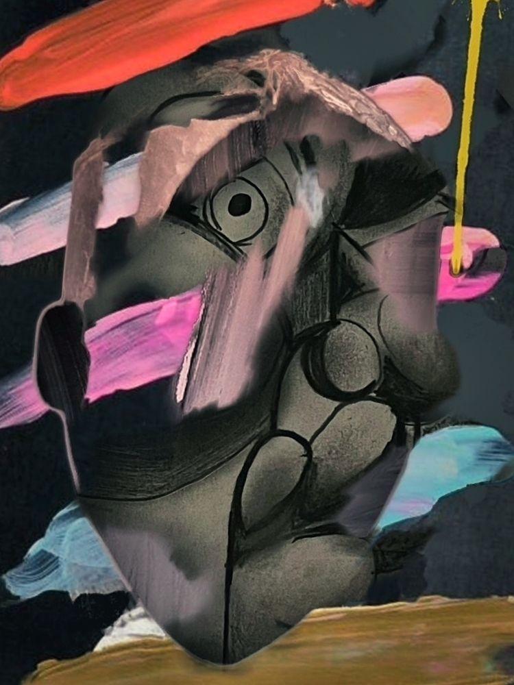 Untitled- mixmedia canvas - sameldin | ello