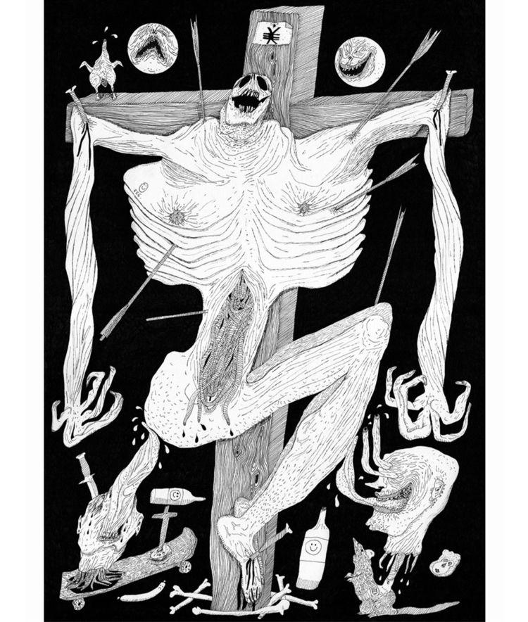 Crucifixion stolen nipples. Ink - carpmatthew | ello