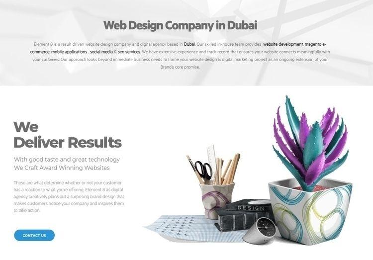 Web Design Company Dubai Elemen - element8 | ello