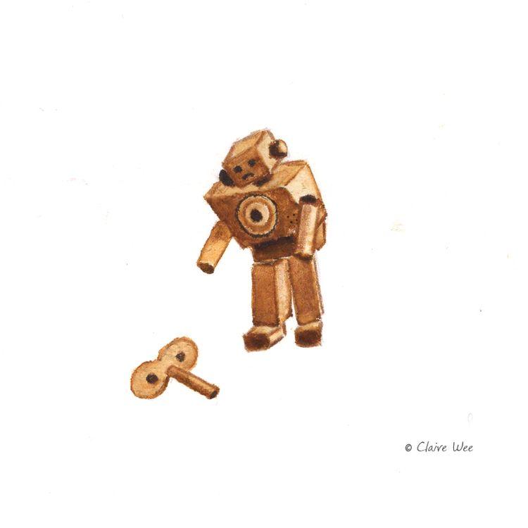 Mood - robot, illustration, kuretakebrushpen - j0eyg1rl | ello