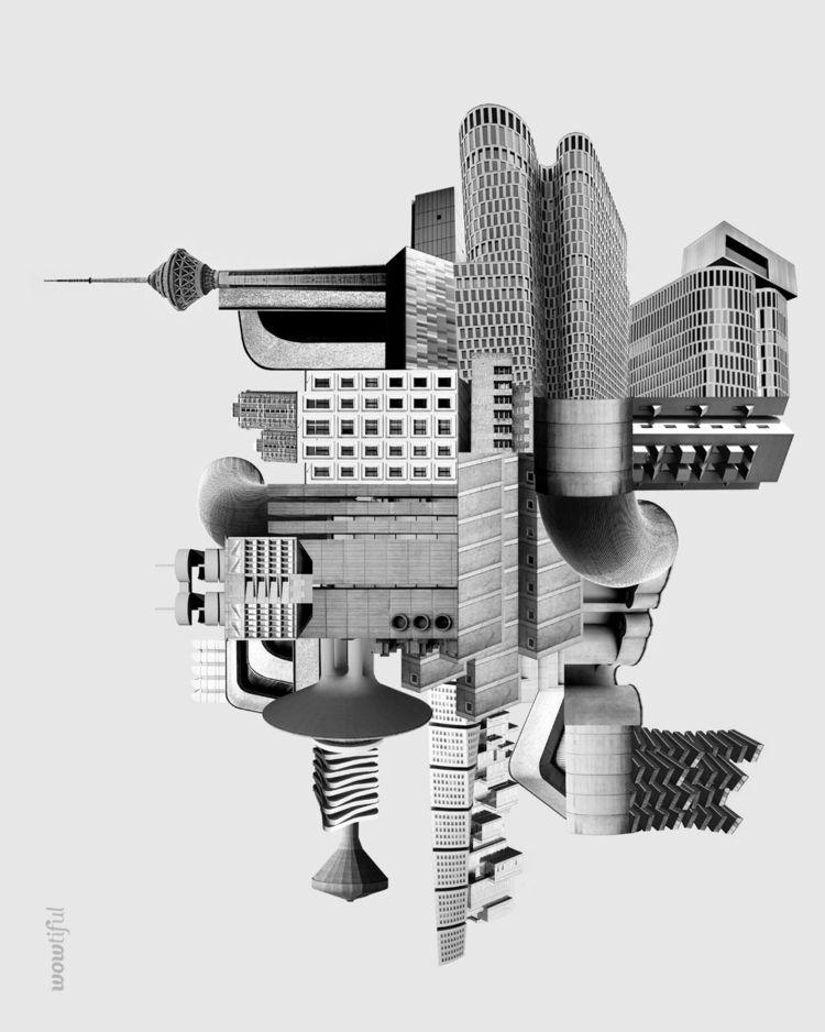 Brutalist Composition - collage - wowtiful   ello