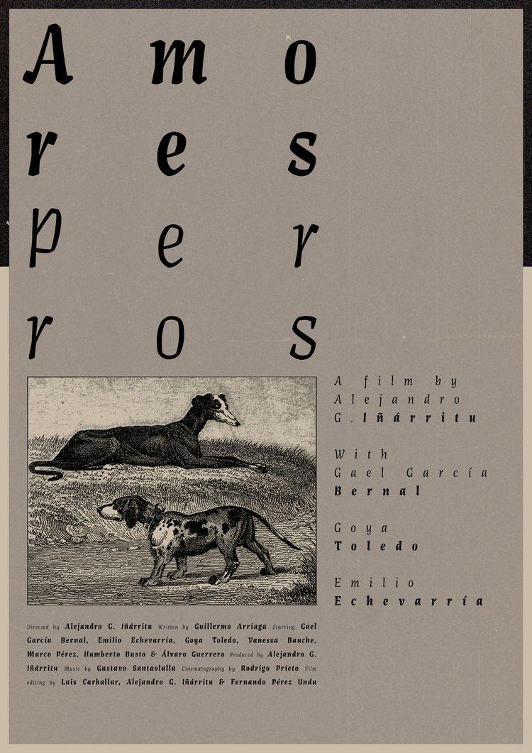 Film poster Amores Perros (Mexi - mathieuvancamp | ello