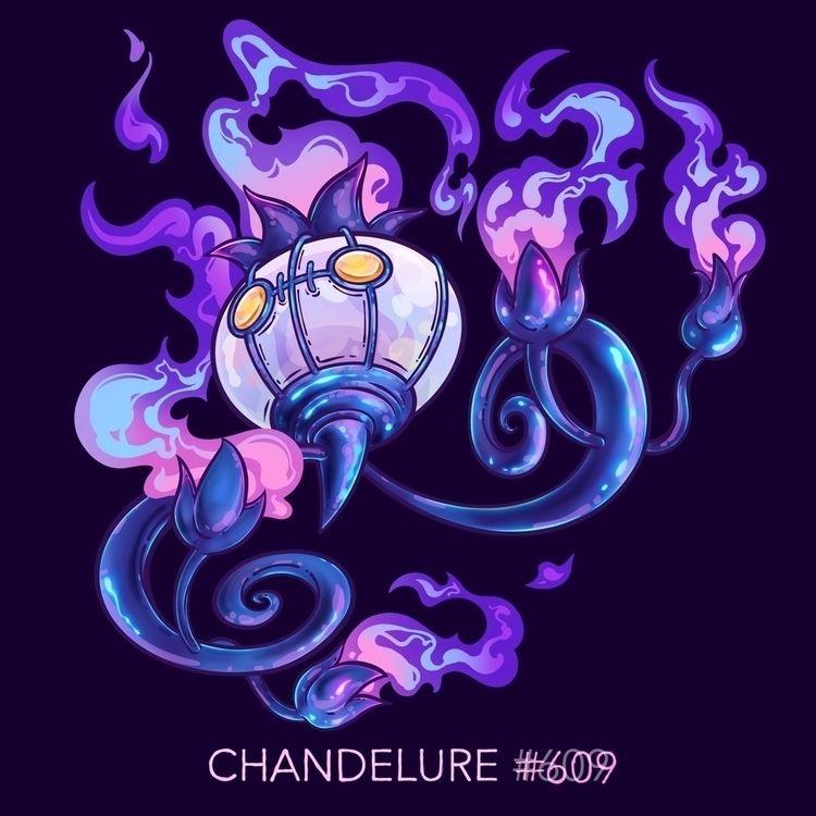 Chandelure - pokemon, chandelure - jordandebney | ello
