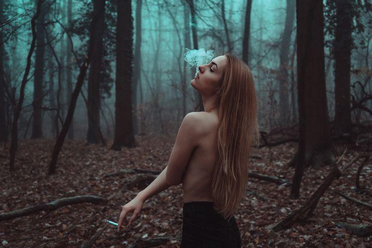 Smoking autumn woods - topmodel - _art-of-nature_   ello