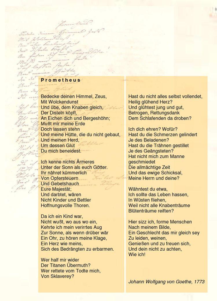 Goethe: Prometheus (1773) revol - alespickar   ello