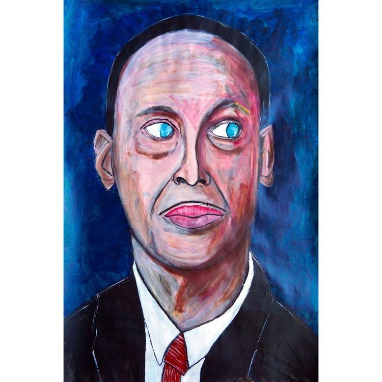 John Waters 2021, acrylic paper - artchrisdale | ello